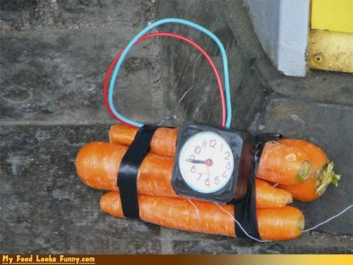 Funny Food Photos - Carrot Time Bomb