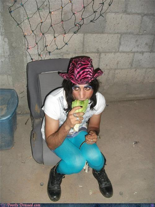 guyliner,hat,leggings,neon,pink tiger