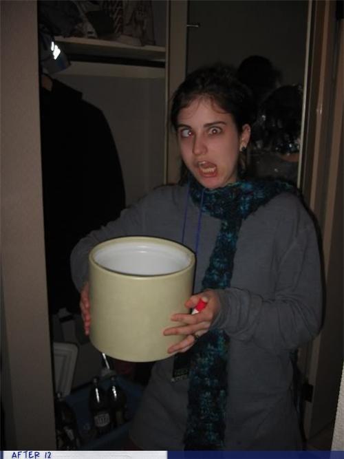 bucket,cross eyed,derp,herp,puke,vomit