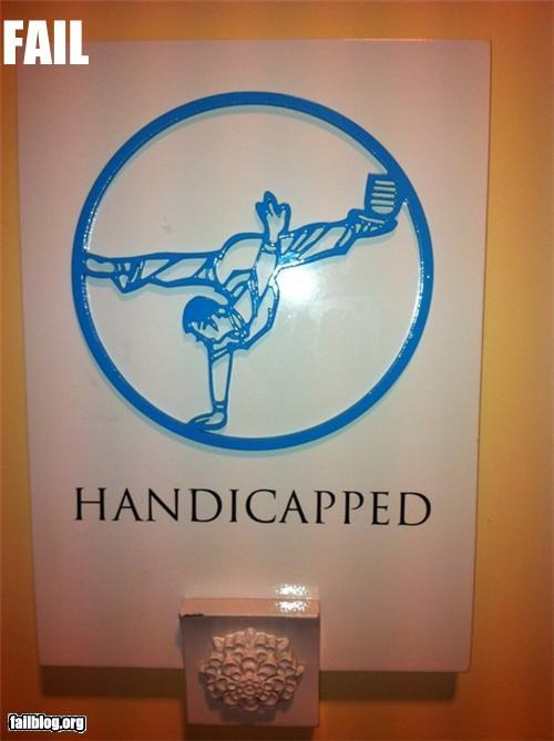 Handicap Bathroom Sign FAIL