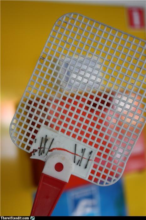 fly swatter,stapler