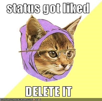 Hipster Kitty: Status Got Liked