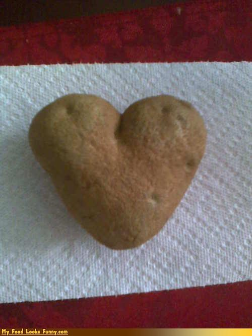 Funny Food Photos - Heart Shaped Potato