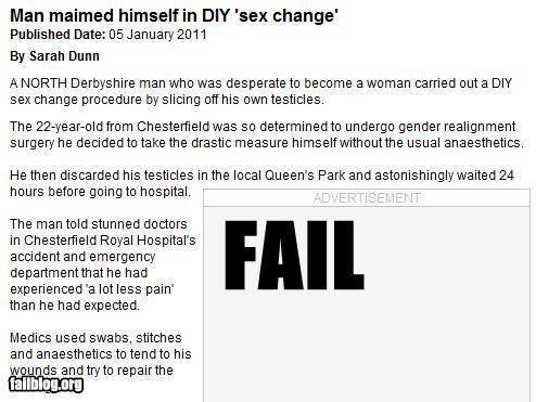 Sex Change Fail