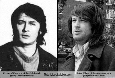 Krzysztof Klenczon of the Polish rock group Czerwone Gitary Totally Looks Like Brian Wilson of the American rock group the Beach Boys