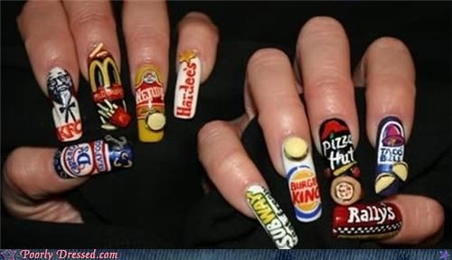 fast food,fingernails,manicure,restaurant