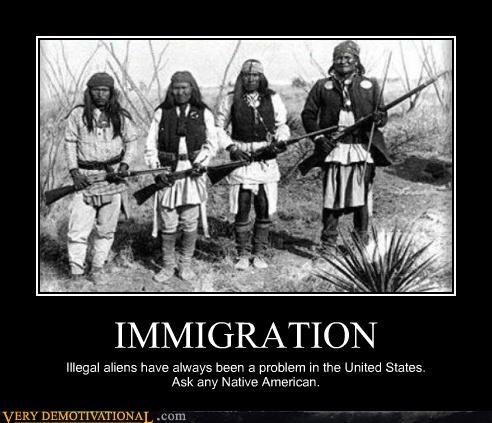 Aliens,guns,immigration,indians,native americans,problem,united states