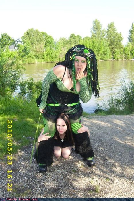 birth,cleavage,green,scary