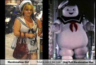 Marshmallow Girl Totally Looks Like Stay Puft Marshmallow Man