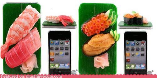 accessory,iphone,realistic,sushi