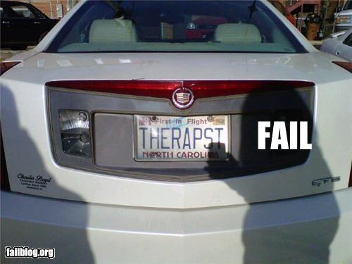 bad idea,cars,classic,failboat,license plate,therapist