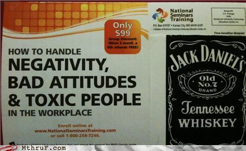 drinking,jack daniels,seminar,sign,training,whiskey