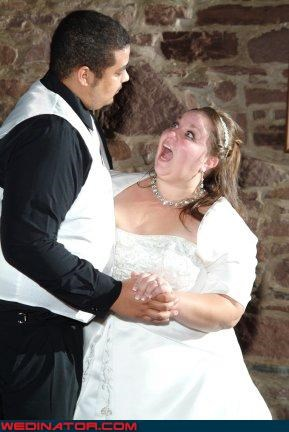bride,bride-says-what,bride singing,Crazy Brides,excellent caption photo,fashion is my passion,funny bride picture,funny wedding photos,groom,miscellaneous-oops,operatic bride,surprise,were-in-love,wtf