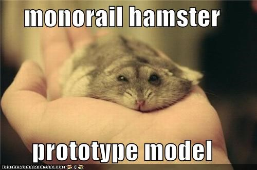 monorail hamster  prototype model