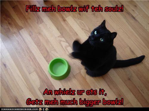 Fillz meh bowlz wif teh soulz!