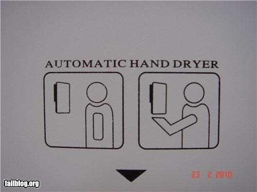 Oddly Specific: Hand Dryer How-To