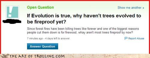 Darwin,fire,fireproof,trees,wood,Yahoo Answer Fails