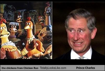 the chickens from Chicken Run Totally Looks Like Prince Charles