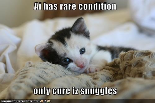 Ai has rare condition  only cure iz snuggles