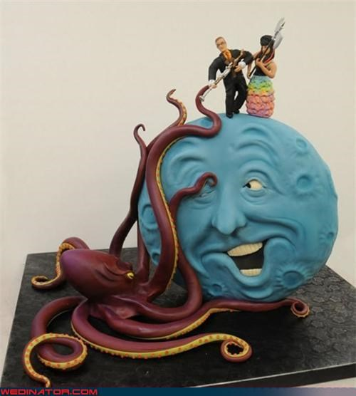 20000 Leagues Under the Sea wedding cake,awesome wedding cake,bride,Dreamcake,funny wedding photos,groom,Jules Verne wedding cake,Sheer Awesomeness,sheer awesomeness wedding cake,themed wedding cake,were-in-love,Wedding Themes