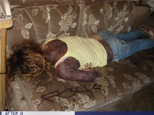 couch,marker,passed out