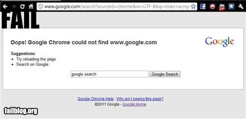 Google Chrome Fail