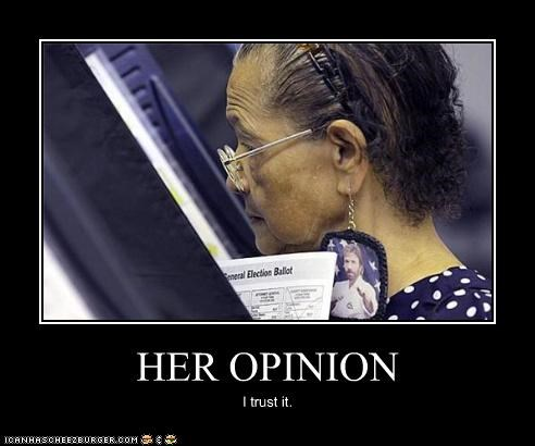 awesome,ballot,chuck norris,earrings,fashion,opinion,vote,voter