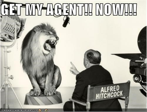 alfred hitchcock,animal,funny,lion,Photo