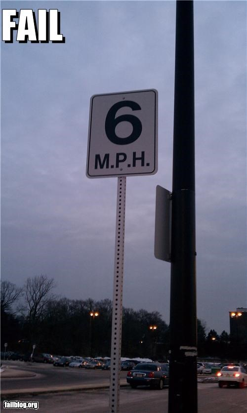 Oddly Specific Speed Sign