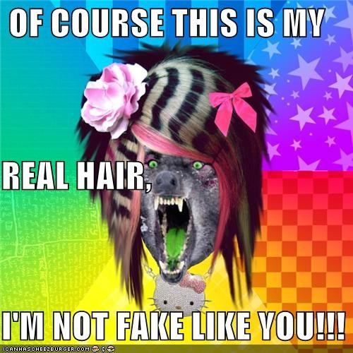 like you,not fake,real hair,scene wolf