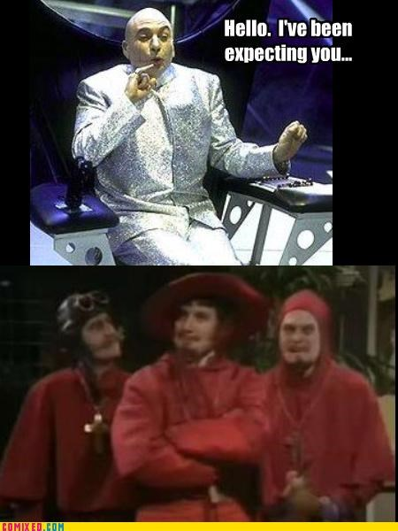 austin powers,comedy,dr-evil,monty python,no expects it,Okay,Spanish Inquisition,the internets