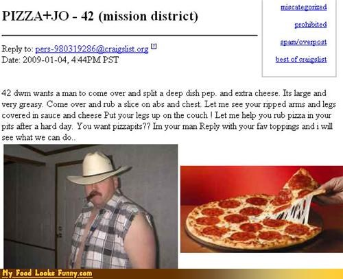 Funny Food Photos - Strange Craigslist Pizza Request