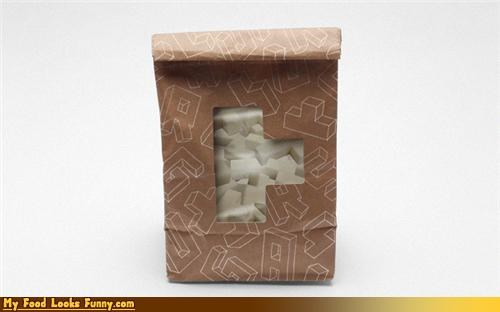 Funny Food Photos - Tetris Sugar Cubes