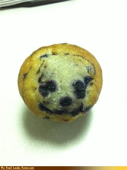 Funny Food Photos - Happy Blueberry Muffin