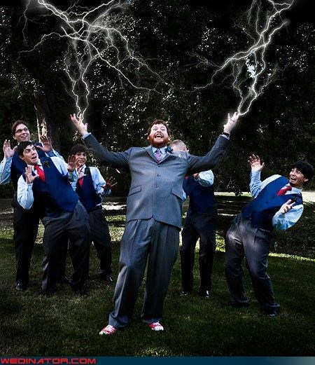 crazy groom,electic groom,fashion is my passion,funny groomsmen picture,funny wedding photos,groom,lightning groom hands,matching groomsmen,stylized groomsmen picture,wedding party