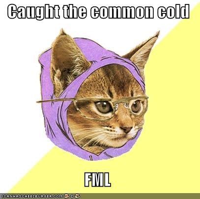 Hipster Kitty: Caught The Common Cold