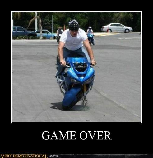 bandana,douchebag,game over,motorcycle