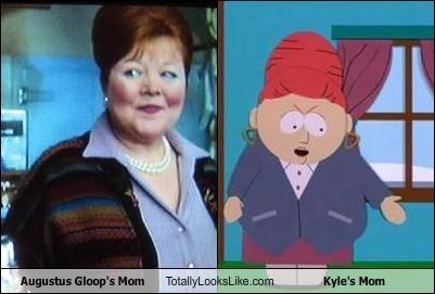 Augustus Gloop's Mom Totally Looks Like Kyle's Mom