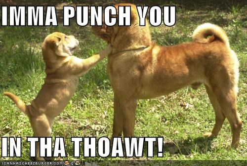 IMMA PUNCH YOU  IN THA THOAWT!