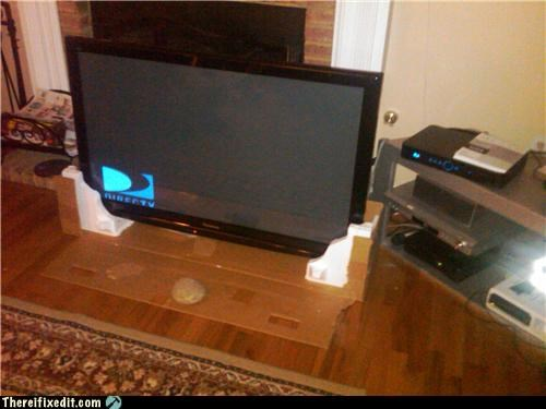 If There Were Only Someplace To Stand This TV....