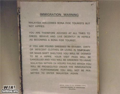 Immigration Warning WIN