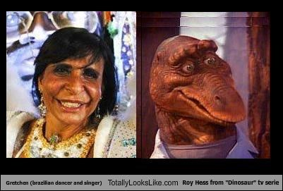 "Gretchen (brazilian dancer and singer) Totally Looks Like Roy Hess from ""Dinosaur"" tv serie"