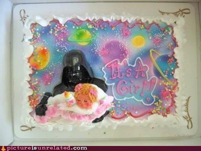 art,Babies,cake,darth vader,food,its-a-girl,nom nom nom,star wars,wtf