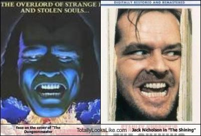 "face on the cover of ""The Dungeonmaster Totally Looks Like Jack Nicholson in ""The Shining"""