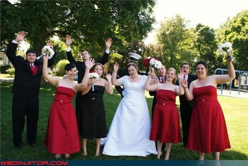 anti-jumping picture,badasses,bride,disobedient wedding party,fashion is my passion,funny jumping picture,funny wedding party picture,funny wedding photos,Hey,miscellaneous-oops,surprise,technical difficulties,the anti-jumping wedding photo,wedding party