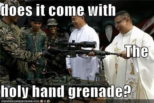 does it come with The holy hand grenade?