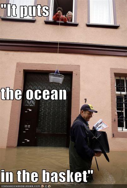 australia,basket,brisbane flood,mail,mailman,ocean,silence of the lambs