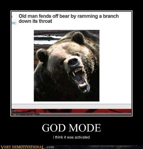 animals,awesome,bad ass,bear,god,god mode,news,old man