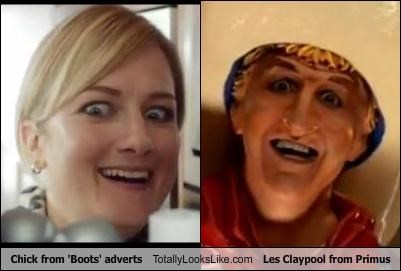 Chick from 'Boots' adverts Totally Looks Like Les Claypool from Primus