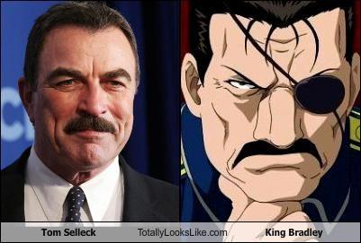eyepatch,king bradley actor,mustache,tom selleck
